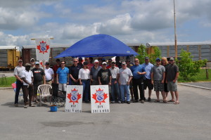 Picket line at Smiths Falls, May 24 2012