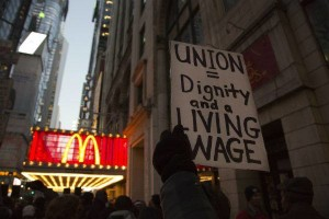 On July 31, fast food workers struck in seven American cities