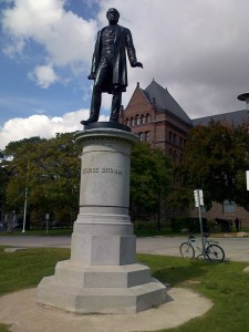 Statue of George Brown in front of Queen's Park, Toronto.