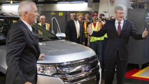 When Harper visited Ford Oakville, the RCMP removed a worker from the assembly line and held him in the plant offices without charge until Stephen Harper left the building.