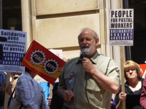 June 3, 2011 - CUPW National President Denis Lemelin at a People for Postal Workers solidarity rally held in Ottawa.