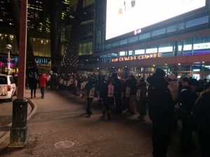 Teamsters Local 847 picketing the Air Canada Centre, Friday Dec.13