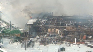 Babine Forest Products explosion, Jan 20, 2012, photo from CBC