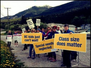 Teachers in Golden B.C. striking for better class size and composition.