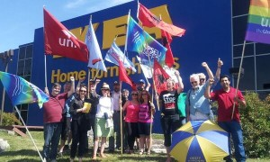 Info picket at IKEA Etobicoke in support of locked out IKEA workers in Richmond B.C.