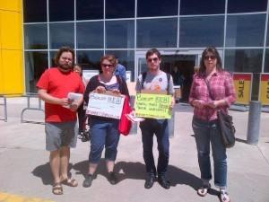 Activists at IKEA Burlington