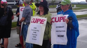 CUPE solidarity picket - Photo by Murray Cooke