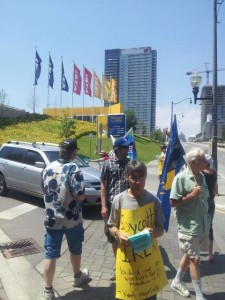 info picket at IKEA North York