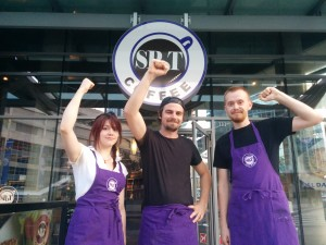 SPot Coffee workers Susannah Mackay, Kyle O'Connor and Dave Clark