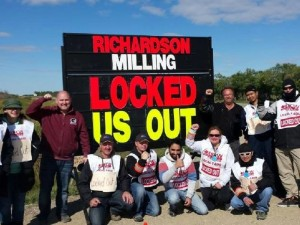 Workers at Richardson Milling north of Saskatoon were locked out on September 9. They are represented by UFCW Local 1400.