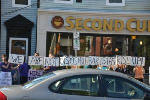 Baristas in Halifax picket a bully boss
