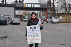Scarborough solidarity with Crown workers: January 2015