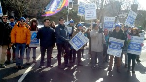 OPSEU members on the CUPE 3902 picket lines