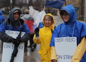 Durham region teachers on strike
