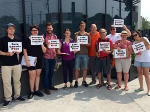 Toronto for door-to-door activists out canvassing in Etobicoke