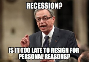 After four straight months of economic contraction, Joe Oliver is still in denial about the economy.