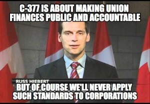 The anti-union C-377 has been rammed through the Senate by Harper's unelected buddies.