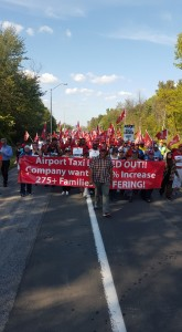 March on the Airport Parkway before another blockade, September 16