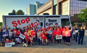 Postal workers defending our postal system in Sydney, Cape Breton
