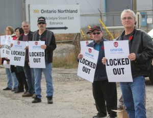 Locked out ONTC workers