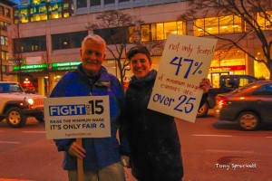 Fight for $15 activists in BC