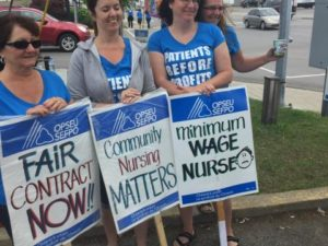 OPSEU Local 294 members on strike at CarePartners in 2015