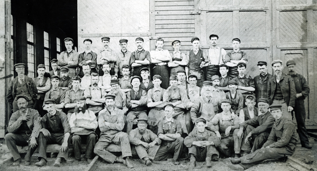 Cape Breton coal miners in the early 20th century. Photo from the Working Through Time website.