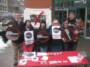 Community activists in London join the Fight for $15 and Fairness