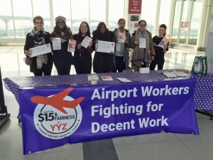 Toronto Airport Workers' Council taking up the Fight for $15 and Fairness
