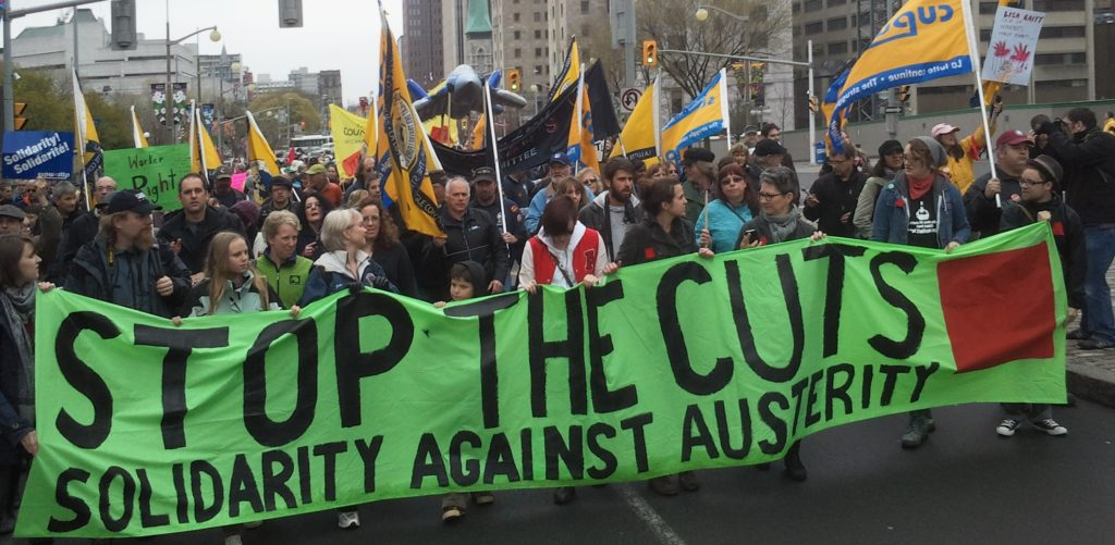 Solidarity Against Austerity has spearheaded May Day marches in Ottawa since 2012.