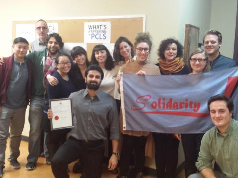 Student caseworkers unionize at Parkdale Community Legal Services. Photo from OPSEU