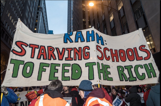 Chicago teachers protest, February 4 2016