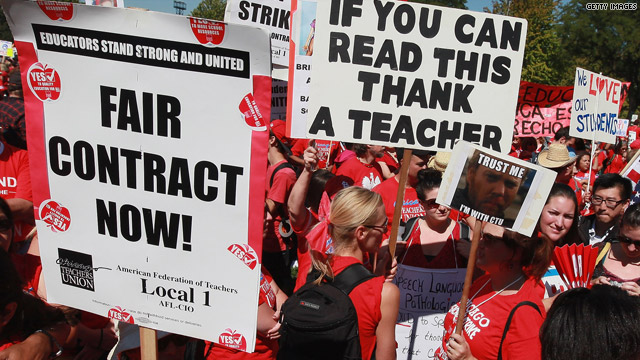 Chicago teachers on strike, September 2012