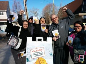 Leafletting in Fredericton by the FDLC