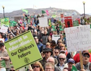 St. John's rally May 7 2016. Photo by Matt Barter. For more photos, visit The Independent