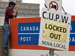 Canada Post protesters