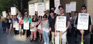 ETEA Local 9 members on strike at the Vancouver English Centre.