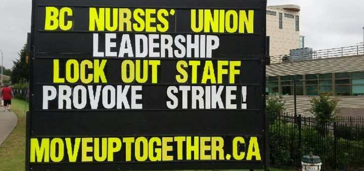 The BC Nurses' Union uses scabs and pits unions against one another