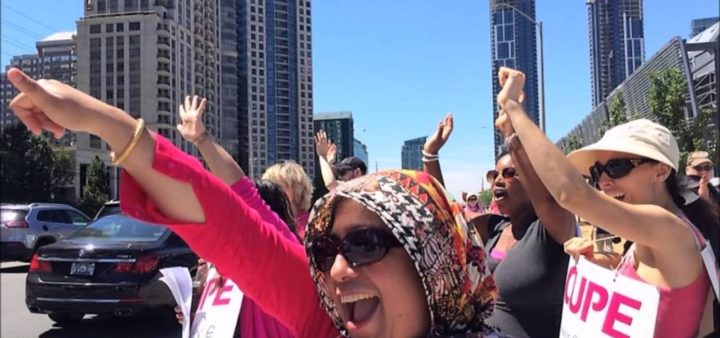 CUPE women step up the fight on the picket lines