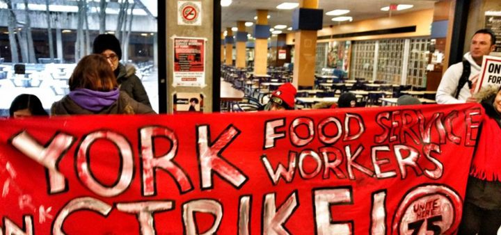 York food workers take on Aramark and the university
