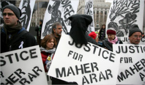 Maher Arar was deported to torture in Syria in 2002 by the US government with the help of the RCMP and (Liberal) Canadian government. Arar sued the government and was awarded $10.5 million by the Harper government.
