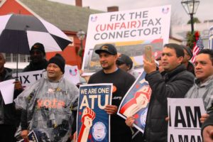December 18 2016 rally by ATU members in Fairfax, Virginia.