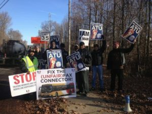 Protest action by ATU Local 1764