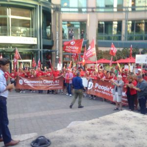 September 23: Unifor members rally in Ottawa in solidarity with Mexican workers and a better NAFTA
