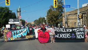 September 23: Migrant workers and supporters rally for equal rights and residency in St. Catharines at Niagara Wine Festival