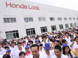Workers at Honda Lock factory in Zhongshan, Guangdong province,are striking for a better pay. 10JUN10
