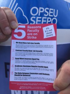 Picket line leaflet. Click to zoom in